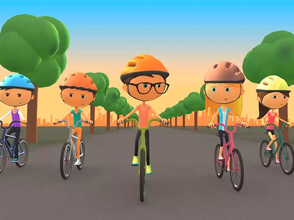 TFL Bring Your Bike 3D character animation motion graphic designer