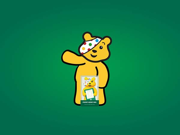 Lloyds Bank Pudsey character freelance video animation
