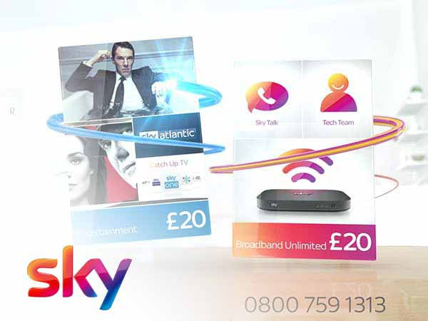 Sky Offer Video Animation TV advertisement freelance motion graphic designer